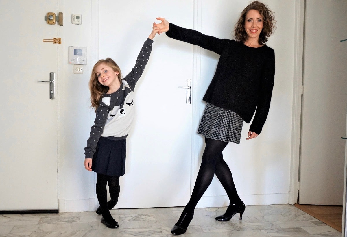 Adeline du blog Forty Beauty et sa fille